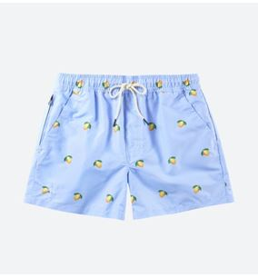 OAS Blue Lemon Swim Shorts