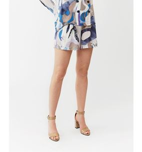 Polly Shorts Blue Marble