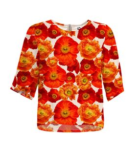 Top Suffix Poppy Print